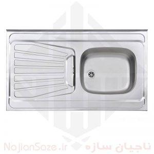 سینک نیمه فانتزی استیل البرز مدل ۱۶۵/۶۰