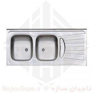 سینک نیمه فانتزی استیل البرز مدل ۲۶۰/۵۰
