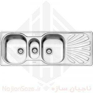 سینک فانتزی استیل البرز مدل ۵۳۰/۶۰