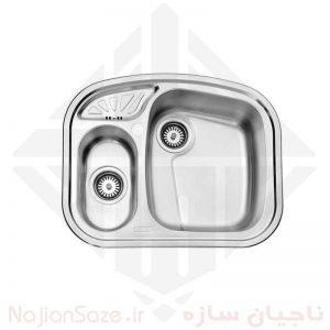 سینک فانتزی استیل البرز مدل ۶۰۵/۵۰