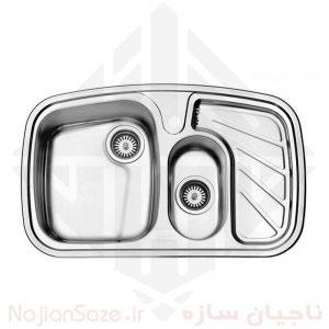 سینک فانتزی استیل البرز مدل ۶۰۸/۵۰