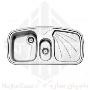 سینک فانتزی استیل البرز مدل ۶۱۰/۵۰