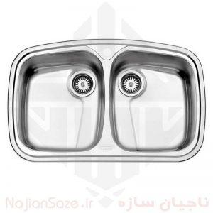 سینک فانتزی استیل البرز مدل ۶۲۸/۶۰
