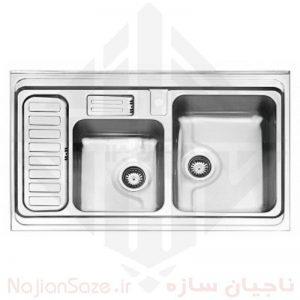 سینک فانتزی استیل البرز مدل ۸۱۲/۵۲