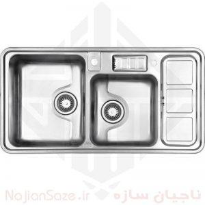 سینک فانتزی استیل البرز ۸۱۳/۶۰